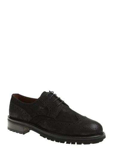 George Hogg %100 Deri Oxford Ayakkabı Siyah